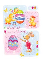 Kartka Wielkanocna wesoła PBW 18