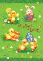 Wesoła kartka na Wielkanoc PBW 19