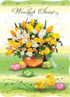 Wiosenna Kartka świąteczna BW 27