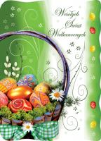 Kartka na Wielkanoc z koszyczkiem BW 30