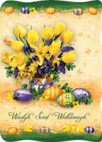 Wielkanocne kartki składane  BW 31