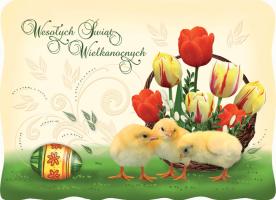 Wesoła Kartka Wielkanocna BW 41