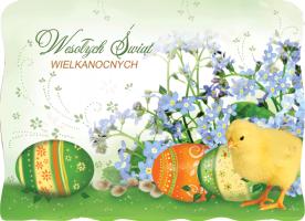 Kartka na Wielkanoc wiosenna BW 42