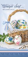 Kartka na Wielkanoc z koszykiem pełnym pisanek LZW 32