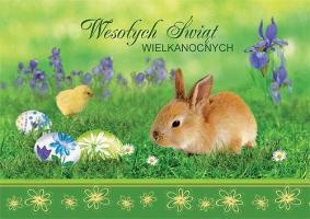 Kartka na Wielkanoc wesoła GDW 01