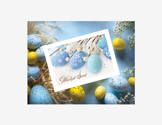 Genialny Kartki noworoczne, świąteczne dla firm z logo | Firmowe kartki WY25